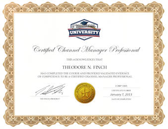 Certified Channel Manager Professional