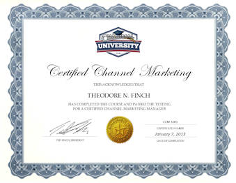 Certified Channel Sales Manager