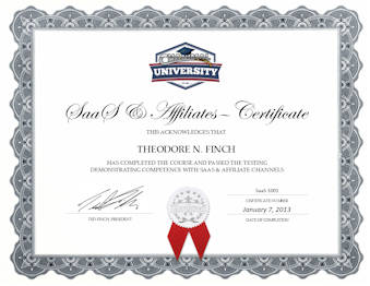 SaaS & Affiliate Certificate