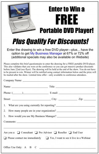 sample lead form for trade shows